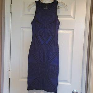 Geometric midi sweater dress